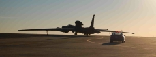 Silhouetted U-2 fitted with ETP taxis for take off