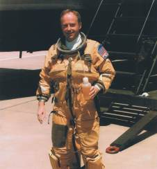 Chris Pocock after flight in Lockheed U-2 Dragon Lady