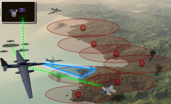 graphic showing U-2 at edge of denied airspace (USAF)
