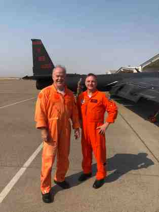Jon Huggins + Cory Batholomew orange flight suits at Beale Sep20 lower-res